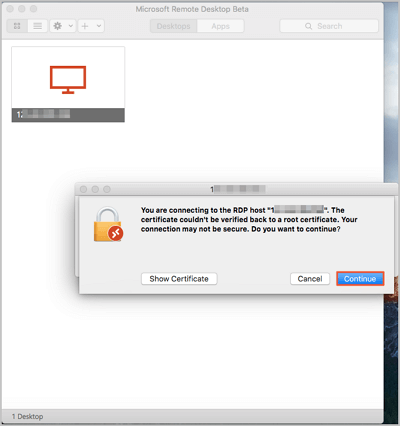 Mac系统远程连接Windows桌面-走客
