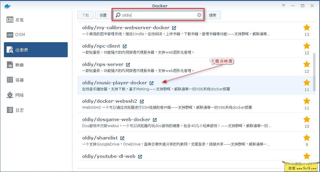 群晖nas使用教程36:Docker安装全网音乐 群晖教程 第1张