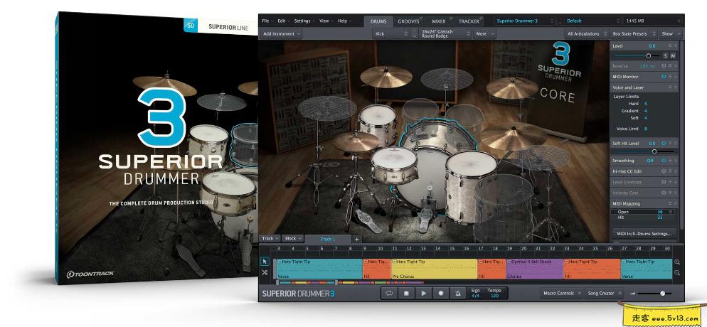 Toontrack Superior Drummer 3.1.6 Mac破解版